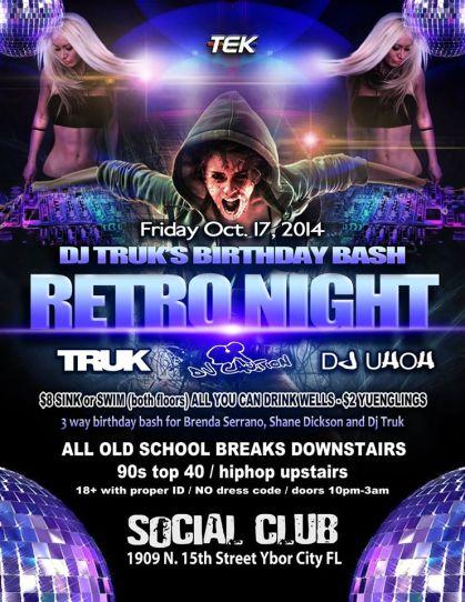 DJ Truk - Birthday Bash Retro Night
